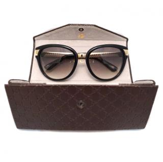 Gucci GG 3651/s Black gold sunglasses