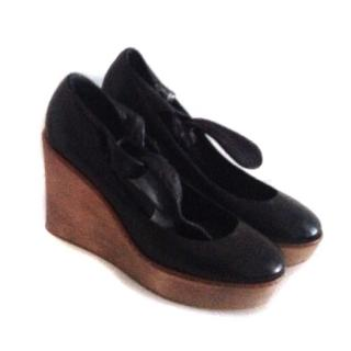 Chloe Black Wedge Shoes