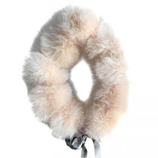 Moschino Cheap & Chic Runway Pink Fur Scarf