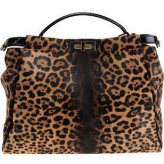 Fendi Peekaboo Pony Skin Leopard Bag