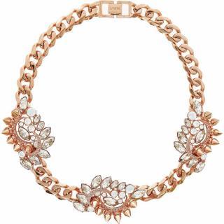 MAWI Rose Gold Triple Crystal Cluster Necklace - BNIB