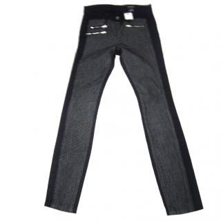 Club Monaco Navy/grey jeans, size UK 4