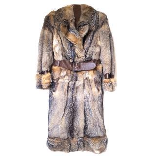 Vintage wolf fur coat