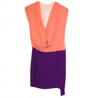 100% silk worn once DVF Colour Block dress