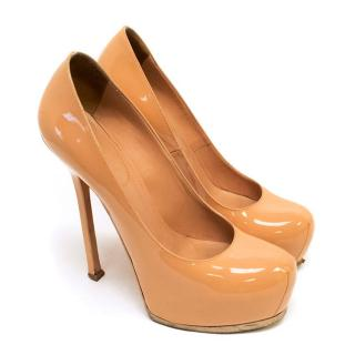 Yves Saint Laurent Nude Patent Tribtoo Pumps