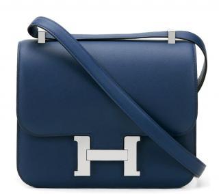 Hermes Bleu Saphir Swift Leather Constance 18