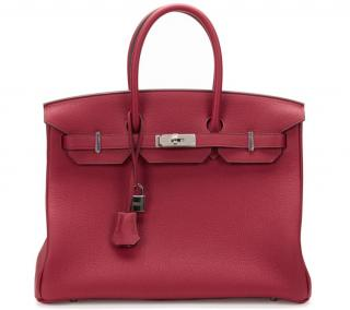 Hermes Rouge Grenat Togo Leather Birkin 35cm