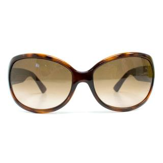Fendi Rounded Tortoise Shell Sunglasses