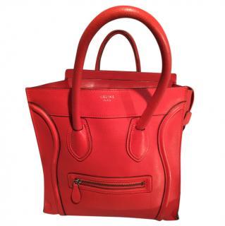 Celine Orange Mini Luggage