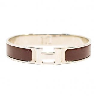 Hermes Clic H Silver Plated Bracelet
