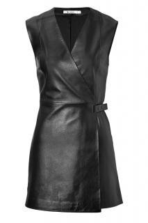 Alexander Wang Leather Wrap Mini Dress