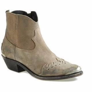 Golden Goose Grey Suede Myth Boots
