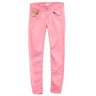 La Martina Pink Skinny Jeans
