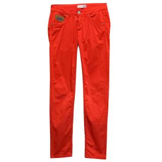 La Martina Red Skinny Trousers