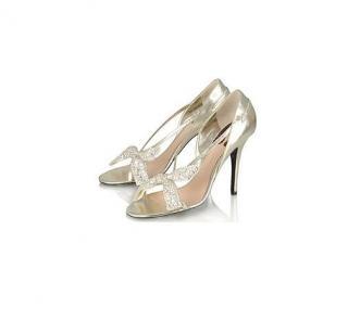 Chloe Crystal Bow Heels