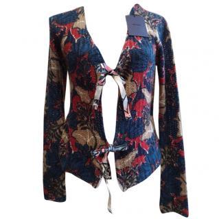 PRADA Multicolored Knitted Cashmere Cardigan