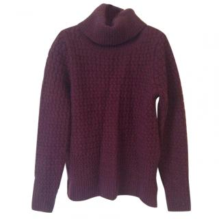 Lacoste Burgundy Wool Jumper
