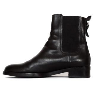 Bally black ladies jodhpur boots