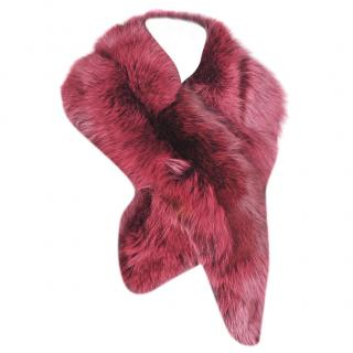 John Galliano real fox fur scarf