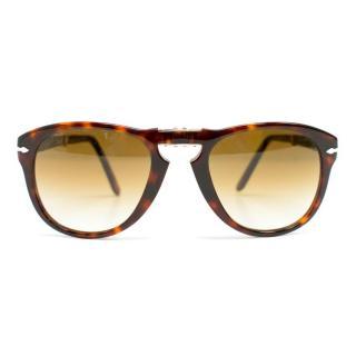 Persol Tortoise Shell Fold-Up Sunglasses