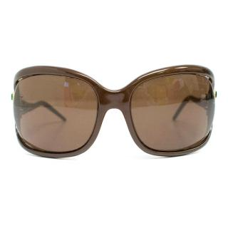 Roberto Cavalli Tespi 380S Brown Oversized Sunglasses