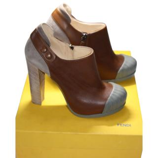 BNIB Fendi Brown/grey booties eu 40