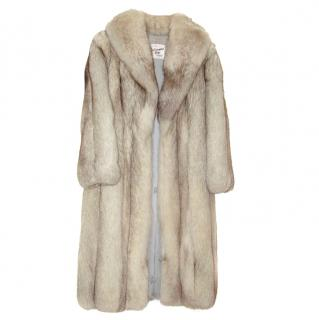 Cream fox fur coat