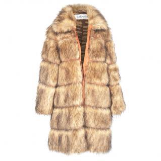 Balmain faux fur coat