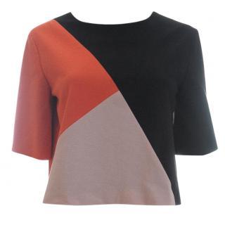 MSGM Colour Block Stretch-Jersey Top