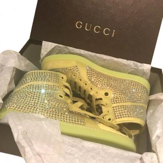 Gucci Crystal High Top Trainers