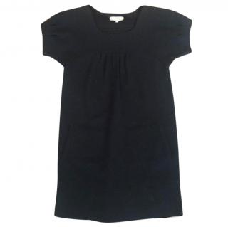 Ann Louise Roswald Black Merino Wool Shift Dress