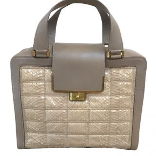 Jimmy Choo Python Detail Quilted Bag
