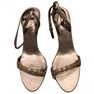 Bottega Veneta metallic leather sandals