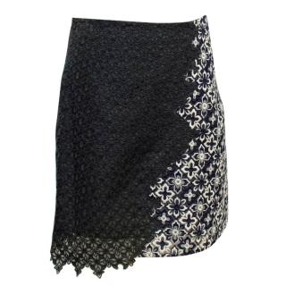 Phillip Lim Grey Crochet Floral Skirt