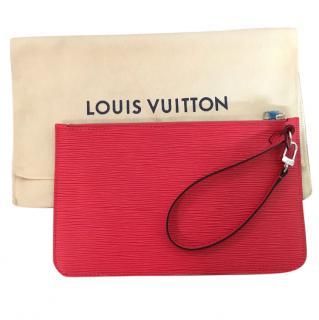 Louis Vuitton Epi grenade leather wrist pochette