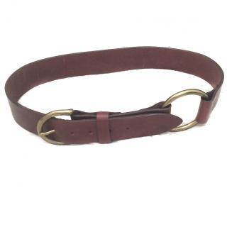 J&M Davidson Brown Leather Belt