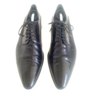 Dolce & Gabbana Black Leather Lace Ups Sz 43