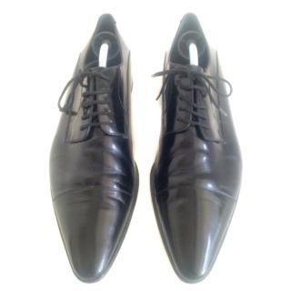 Dolce & Gabbana Black Leather Lace Ups Sz 43