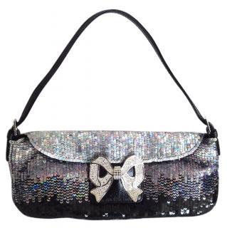 Valentino sequin bow strass evening pochette hanbag
