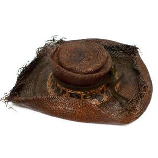 Anita Hopkins LA Dark Brown Woven Straw Hat