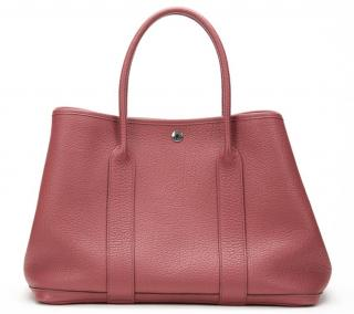 Hermes Bois De Rose Negonda Leather Garden Party 36cm