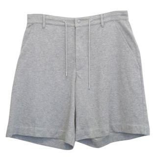 Y-3 Adidas Grey Fleece Shorts