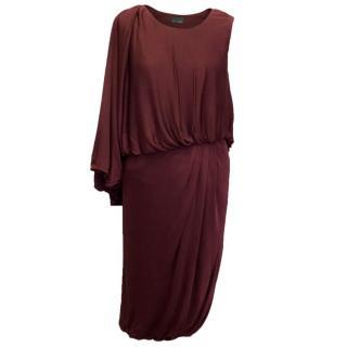 Fendi Burgundy Draped Dress