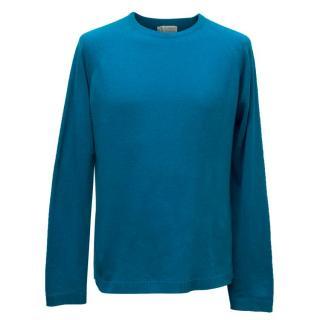 Clements Ribeiro Mens' Blue Cashmere Jumper