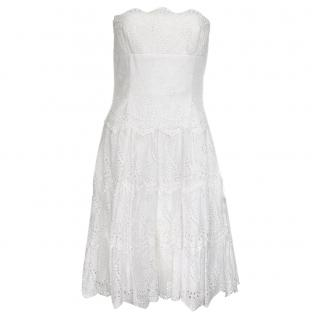 BCBG Max Azria White Broderie Anglaise Dress