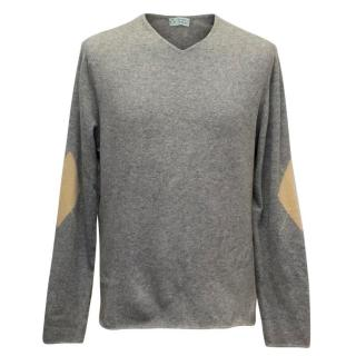 Clements Ribeiro Mens' Grey Cashmere Jumper