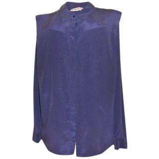 See by Chloe navy silk blouse