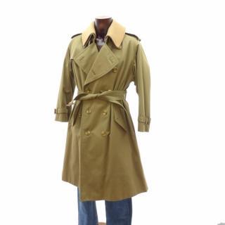BURBERRY Men Long Trench Coat Wool Warmer