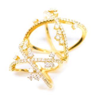 Bespoke Yellow Gold Diamond Hinge Ring