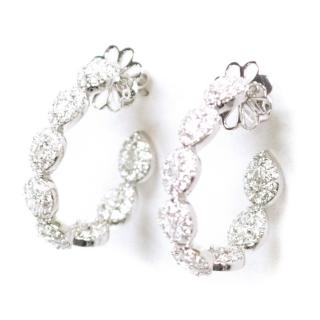 Bespoke White Gold Diamond Hoop Earrings
